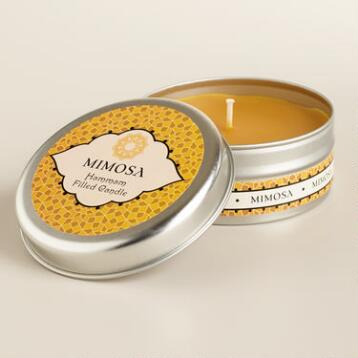 Mimosa Flower Hammam Candle Tin